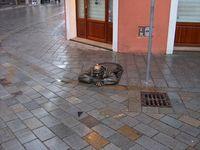 Bratislava Man Covering Hole